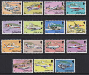 Gibraltar 1982 Mint MNH Full Set Definitives Aviation Airplanes Hawker Vickers