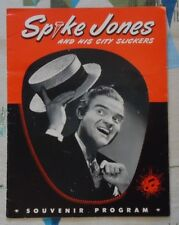 Spike Jones Original 1946 Tour Program