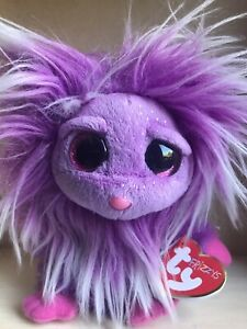 """TY Frizzys Purple 6"""" Zwippy Creature 37136 Birthday 21 June plush toy with tags"""