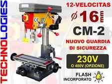 TRAPANO FRESATRICE A COLONNA Ø 16 mm CM2 / 230V o 400V / ! Nuovo !