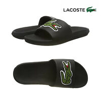 Lacoste Mens Black Croco Slides 3194 US CMA Casual Pool Slip On Slider Sandals