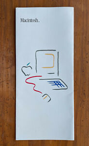 Vintage MACINTOSH™ 1984 Computer Picasso Fold-Out Brochure - rare - collectible
