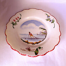 VEUVE PERRIN SEAU A BOUTEILLE FRENCH FAIENCE SALAD PLATE VP ANTIQUE