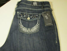ROCK & REPUBLIC STRETCH BOOTCUT KASANDRA JEANS PLUS SIZE 24W SHORT  NWT