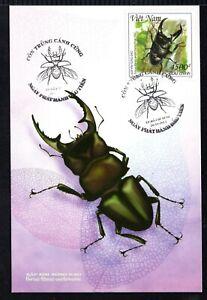 N.1060-Vietnam- Postcard- Beetle - horn pliers -2015