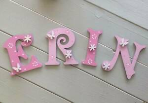 Personalised Wooden Door Letters Bedroom Name Plaque or Toy Box Victorian#156
