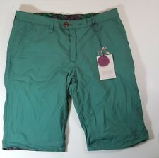 NEW NWT Jet Lag Mens Bermuda Shorts Green Fully Reversible Size 32 Waist Premium