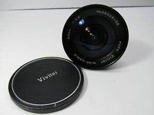 Vivitar Wide-Angle 20mm F3.8 1:3.8 Camera Lens