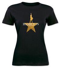 Hamilton American Musical Broadway Women Black t shirt   S -   2XL  Tour