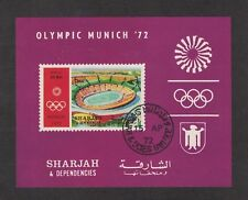 Sharjah - Munich Olympic Stadium 1972.  Souvenir Sheet. Cancelled   #02 SHAHMOS