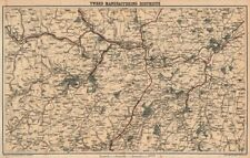 SCOTLAND. Tweed manufacturing districts. Wool Textiles. Selkirk Melrose 1885 map