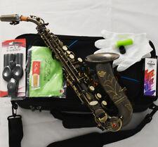 Professional TaiShan Bb Curved Soprano Saxophone High F# Antique bronze Sax New