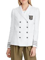 Lauren Ralph Lauren Linen Military Jacket MSRP $295 Size 4 # 6A 1084 Blm