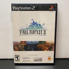 Final Fantasy XI 11 Online PS2 (PlayStation 2) Game- 2 Discs+manual-Fast Ship