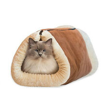 Cat Bed Mat Shack 2-in-1 Tunnel Self Heating Dog Pet Accessory Winter Warm Pro