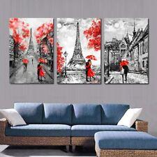 3Pcs Canvas Paintings Wall Art Posters Paris Couples Artwork Pictures Home Decor
