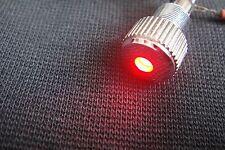 Red Led Indicator Power Pilot Dash Light Bulb 8mm Mount 240V  Speaker Terminal
