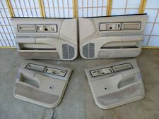 91-96 Roadmaster Caprice Impala TAN LEATHER 4DR Interior Power Door Panel SET