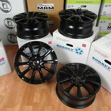 4x Borbet re llantas 17 pulgadas 5x112 et48 Black glossy Altea jetta ruedas con llantas de aluminio