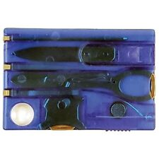 NEW Swiss Card Multi-Tool Wallet Outdoor Survival Camping Hunting SwissArmy BLUE