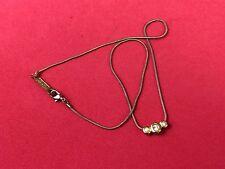 """Vintage Signed 16"""" gold tone rhinestone  Necklace Signed NAPIER"""
