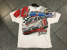 New XL NWOT Deadstock Vintage 90's All Over Print Silver Bullet Nascar T-Shirt