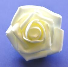 "SMALL 2.5"" Ivory White Foam Flower Hair Clip Wedding Bridesmaid Prom"