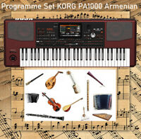 Programme Set KORG PA1000 Armenian, Arabic, Greek, Styles, Sounds, PAD + Bonus
