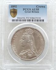 More details for 1892 british queen victoria jubilee head silver crown coin pcgs au55