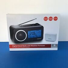 Radio Shack Clock Radio Weather Radio Wireless Remote Temperature Sensor