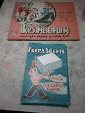 ANTIQUE 1940 KOPEEFUN MAGIC COPY PAPER KIT - EMBREE CO.- CHILDREN'S CARTOON BOOK