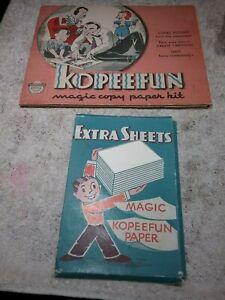 ANTIQUE 1940 KOPEEFUN MAGIC COPY PAPER KIT - EMBREE CO.- CHILDREN'S CARTOON BOOK