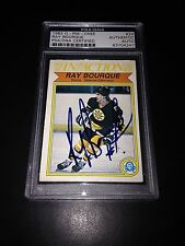 Ray Bourque Signed 1982-83 O-Pee-Chee OPC Bruins Card PSA Slabbed #83704247