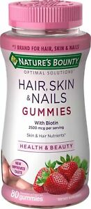 Nature's Bounty Optimal Solutions Hair, Skin and Nails Gummies, 80CT
