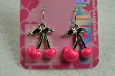 Claire's Pink Cherries Earrings New Valentine's Earrings Hooks Danglers