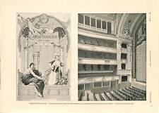 Comedie Francaise Paris / Federation of Australia  Lord Hopetown PRINT 1900