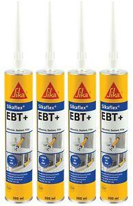 4 x Sika Sikaflex EBT Adhesive Sealant & Filler - Grey - 300ml