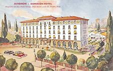 Avignon France aerial view over Dominion Hotel area antique pc (Y9386)