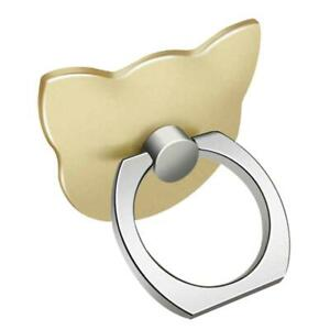 Finger Ring Holder Stand Grip 360° Rotating For Cell Phone Cartoon Cat Mount