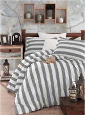 6 tlg Bettwäsche Bettgarnitur Bettbezug 100% Baumwolle Kissen 220x240 cm EGE GRA