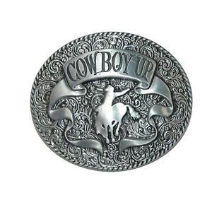New CTM Cowboy Up Belt Buckle