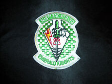 USAF AF 308TH TACTICAL FIGHTER SQUADRON EMERALD KNIGHTS F-16 FALCON VIPER PATCH