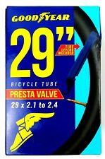 "Goodyear 29"" Presta Valve Bicycle MTB Tube 29"" x 1.75 - 2.125, Black"