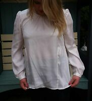 CLEARANCE Plus Size 10 - 24 Ladies Black or Ivory Silky Top Faux Leather