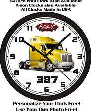 PETERBILT 387 SEMI-TRUCK WALL CLOCK-FREE USA SHIP!