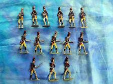 HEINRICHSEN - Plats d'étain - Zinnfiguren - 14 soldats artilleurs du 1er empire