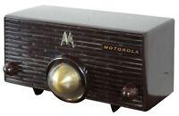 Vintage 1950s Motorola Turbine Tube Radio Model 56H Mid Century Modern Jetsons