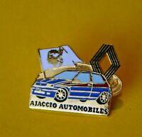 Pin's Pins lapel pin RENAULT AUTOMOBILES AJACCIO CLIO DRAPEAU CORSE LOGO   EGF