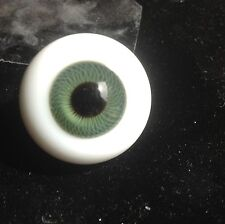 Glass Paperweight Doll Eyes, 28mm Green , Large !