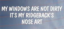 Model year windows are not dirty it is year model ridgeback nose art